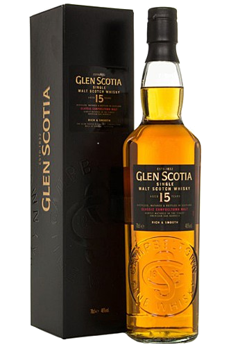 Glen Scotia 15 Jahre - 46%vol. 0,7