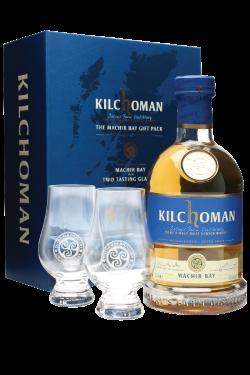Kilchoman - Machir Bay Geschenkset mit 2 Glencairngläser