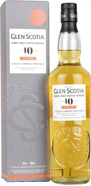 Glen Scotia 10 Jahre - 46%vol. 0,7l - Peated